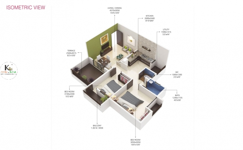 Pioneer Orchid - affordable 2 bhk flats in wardha road nagpur