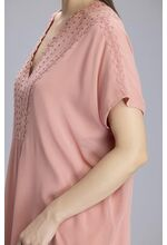 Asmah Onion Pink Tunic In Georgette