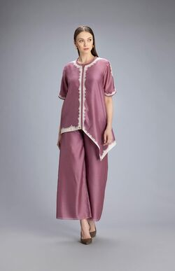 Shirts and tops Miah Dusty Lilac Shirt Set In Chanderi
